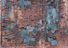 Wooden wall with flaking paint Royalty Free Stock Image