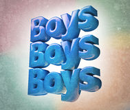 Background. Grunge background with the word Boys Royalty Free Stock Image