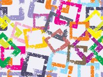 Background with grungy colorful square Royalty Free Stock Photos