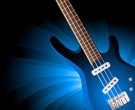 Background with guitar vector illustration