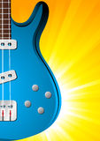 Background with guitar Royalty Free Stock Photos