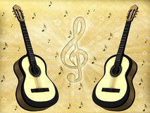 Background with a guitar Royalty Free Stock Photography