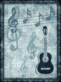 Background with a guitar. Abstract background with a guitar royalty free illustration