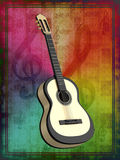 Background with a guitar Stock Images