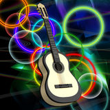 Background with a guitar Royalty Free Stock Photos