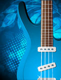 Background with guitar Stock Image