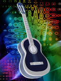 Background with a guitar Royalty Free Stock Image