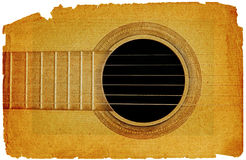 Background with guitar in grunge style Royalty Free Stock Image