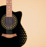 Background with guitar. Vector background with acoustic guitar Royalty Free Stock Image