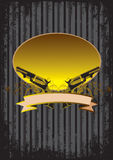 Background with guns. Black background with guns and floral pattern Royalty Free Stock Photography