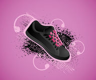 Background with gym shoes Stock Photos