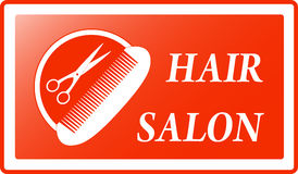 Background for hair salon sign Royalty Free Stock Images
