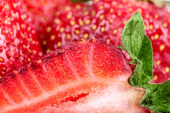 Background half of the strawberry Stock Image