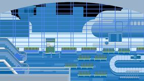 Background of hall at airport. Background of hall at airport vector illustration stock illustration