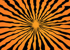 Background for a halloween. Orange background with black strips for a halloween holiday Royalty Free Illustration