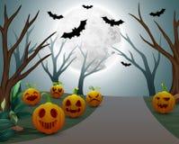 Background of halloween celebration on night Stock Illustration
