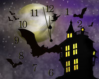 background halloween haunted house Стоковые Фото