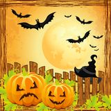 Background for halloween pumpkins Royalty Free Stock Photos