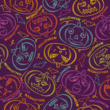 Background with Halloween  pumpkins. Seamless Pattern with color Halloween Pumpkins Royalty Free Stock Image