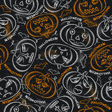 Background with Halloween  pumpkins Royalty Free Stock Images