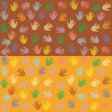 Background with hand. Colored dot stock illustration