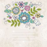 Background of hand draw  flowers, vector Stock Images