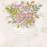 Background of hand draw  flowers, vector Royalty Free Stock Image