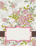Background of hand draw  flowers, vector Stock Photography