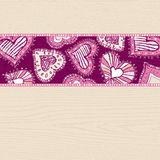Background with hand draw  hearts Royalty Free Stock Photo