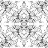 Background with hand-drawing decorative ornaments Stock Photography