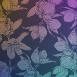 Background with hand drawn flowers. EPS10 Stock Image