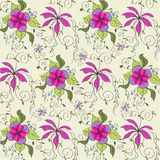 Background of hand-drawn flowers Royalty Free Stock Photo