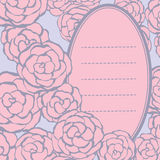 Background with hand drawn gentle roses with space for your text Stock Photography