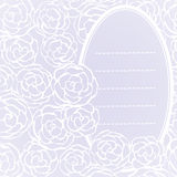 Background with hand drawn gentle roses. Vector illustration Stock Photo