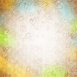 Background with hand drawn hearts Royalty Free Stock Images