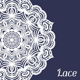 Background with hand drawn ornamental round lace Stock Photography