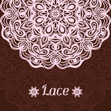 Background with hand drawn ornamental round lace Royalty Free Stock Photography