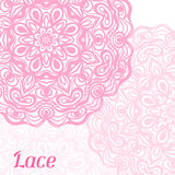 Background with hand drawn ornamental round lace Stock Photos