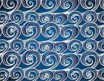 Background of hand-drawn sea waves Royalty Free Stock Photography