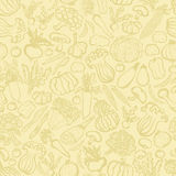 Background of hand-drawn vegetables. Royalty Free Stock Photography