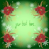 Background with hand drawn waterlilies Stock Photos