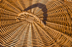Background of hand-woven basket reed lid handle Stock Image