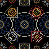 Background for handmade cross stitch decoupage. Background for handmade cross stitch decoupage vector illustration. Seamless pattern Royalty Free Stock Photography