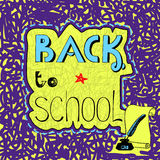 Background with handwritten inscription Back to school. Stock Image
