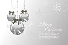 Background with hanging decorated ball Stock Photos