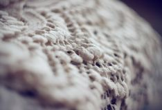 On the background of hanging delicate lace stock photography