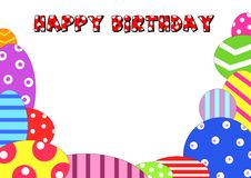 Background Happy Birthday Stock Image