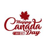 Red typography happy canada. Background happy canada day with typography white and red available for celebrating and events vector illustration