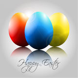 Vector Easter Background with Happy Colorful Eggs Royalty Free Stock Photo