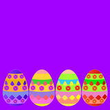 Background happy easter day with eggs. Illustration. Stock Photos